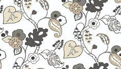 Botanica (W0045/02) - Clarke & Clarke Wallpapers - A contemporary stylized leaf trail design shown in charcoal grey on a white background - more colours are available. Please request a sample for true colour match. Paste-the-wall product.