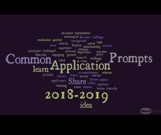 Common Application Prompts 2018 2019 College Essay App