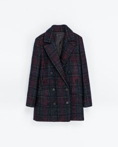 ZARA - WOMAN - CHECKED COAT WITH POCKETS