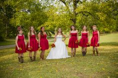 Or I could do a red black and ivory wedding