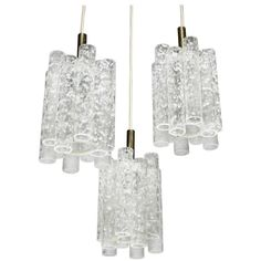 Brutalist Ice Glass Chandelier by Doria - $2160, https://www.1stdibs.com/furniture/lighting/chandeliers-pendant-lights/brutalist-ice-glass-chandelier-doria/id-f_1811212/#0