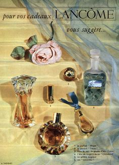 French advertisement for Lancome perfumes 1953 ༺✿♔R.D♔✿༺