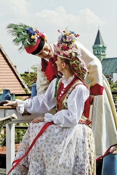 Traditional wedding outfit from Cracow