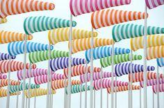 Installation by Daniel Buren, Nieuwpoort, Belgium.Mooier dan windmolens.