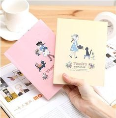 """Jamie's"" Cute Diary Exercise Book Notebook. Package Included One Notebook. 无标题 1. 192 Pages, Size: 12.3x15.6cm. 4 Colors Available: Pink, Blue, Yellow and Green. Fast Handling within 12 Hours."
