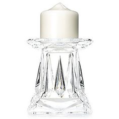 """Marquis by Waterford 5"""" Crystalline Candle Holder/Vase w/ Candle"""
