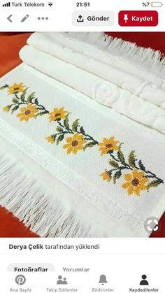 Cross Stitch, Embroidery, Flowers, Sari, Bath Linens, Cross Stitch Embroidery, Craft, Ideas, Border Tiles