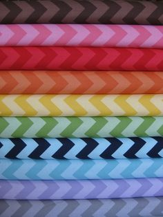 Riley Blake Chevron, Tone on Tone, Medium in FAT QUARTERS 10 Total