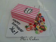 Pick and mix cake Sweetie Birthday Cake, Sweetie Cake, Happy Birthday Cakes, Beautiful Cakes, Amazing Cakes, Bag Cake, Novelty Cakes, Occasion Cakes, Love Cake