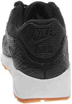 76d9bc12eb2ea NIKE Womens Air Max 90 PRM Black Black Gum Yellow White Running Shoe 6.5  Women US  WomensRunningShoes