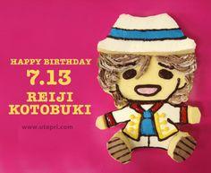This is a Birthday cake of Reiji Kotobuki (2013)which the #utapri staff made! photo by @utapri_official