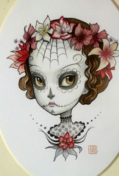 Girl skull