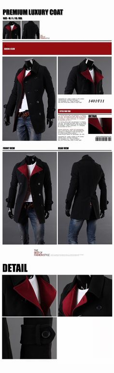 Double Breasted Men Fashion Coat