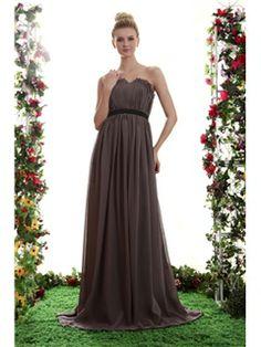 Elegant A-Line Ribbons Empire Waist Sweetheart Floor-length Yana's Bridesmaid Dress