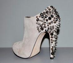 studded heel booties.
