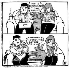 Sofa Rules - Off The Leash by Rupert Fawcett