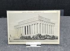 1951 B&W LINCOLN MEMORIAL, WASHINGTON, D.C A Capsco Product Postmarked 1951