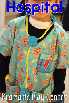 Young children love to play doctor. Set up a literacy-rich, beautifully organized hospital like this in your dramatic play area! via @PlayToLearnPS