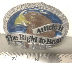 America's Heritage – Article II – The Right to Bear Arms – Cast Belt Buckle