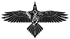 This Raven is the result of a combination of Art Deco, Egyptian, and tribal styles Tribal Bird Tattoos, Native Tattoos, Yin Yang Tattoos, Tattoo Bird, Tattoo Wolf, Full Back Tattoos, Cover Up Tattoos, Body Art Tattoos, Tatoos