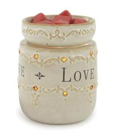 """Live, Laugh, Love.  You may mix and match warmers to meet the (3) Master Pack minimum.   Product Specifications: Length: 4.5"""" Width: 4.5"""" Height"""" 6.5"""" Weight: 1.90 lbs Electrical Rating: 120V, 60Hz, 25W Bulb Type: NP5  Switch Type: Dial Switch Testing Approval: ETL Listed"""