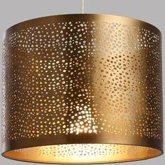 World Market Pierced Antique Brass Drum Table Lamp Shade Hanging Lamp Shade, Table Lamp Shades, Drum Shade, Drum Table, Table Lamp Base, Lamp Bases, Lampe Metal, Metal Drum, Best Desk Lamp