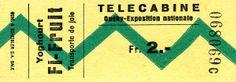Billet pour le télécabine Ouchy-Expo 64 #expo64