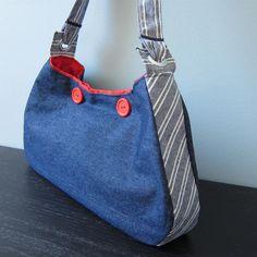 Sewing: Nautical Hobo Bag