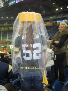 hahaha cheesehead veil. ..Have bachelorette party at a packer game!