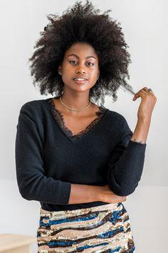 Pulls pour femme écologiques en coton recyclé - Minuit Sur Terre Uppsala, Curly Hair Styles, Natural Hair Styles, Protective Hairstyles For Natural Hair, Mane Event, Vegan Fashion, Afro Hairstyles, Hairdos, Cozy Sweaters
