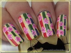 Flowers on Stripes