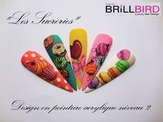 Design en peinture acrylique Thème : Les sucreries