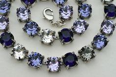 "Swarovski Crystal Necklace  - Sabika Inspired -  ""Purple Passions""  -  FREE Stud or Drop Earrings"