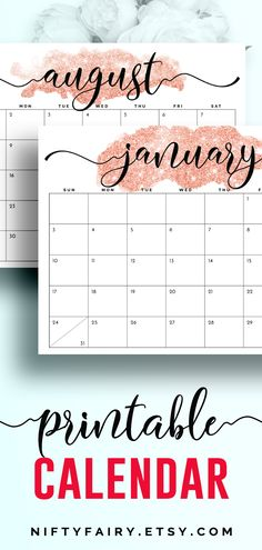 Your next favorite printable calendar or monthly planner for 2021! Get this rose gold glitter printable calendar now and start getting organized! #printable #planner #calendar Free Printable Calendar Templates, Monthly Planner Printable, Printables, 2021 Calendar, December Calendar, November, Study Planner, Desk Calendars, Calendar Design