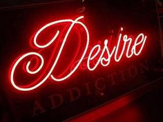 red, desire, and neon Bild