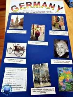 How to make a geography country study or a heritage report for elementary school. Elementary Teacher, Elementary Schools, Germany For Kids, Country Report, Teaching Geography, Geography Activities, Reading Projects, World Thinking Day, We Are The World