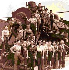 Mexican American women workers on the Southern Pacific Railroad during WW II.