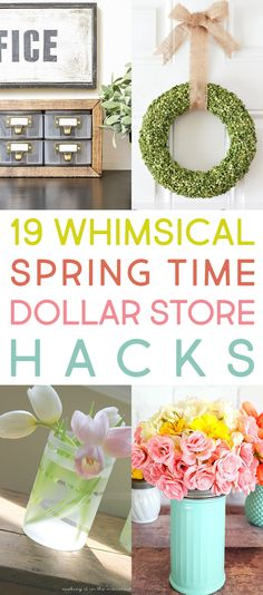 """Spring is right around the corner (I personally can't wait!) so many of you are thinking about decorating for this favorite Season and we have a few Fun and Fresh Ideas on """"The Cheap"""" with this collection of Spring Time Dollar Store Hacks. No one will ever know your secret because each one of these …"""