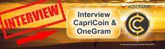Kryptowährung CapriCoin und OneGram, warum ich mich für Vizionary entschieden habe