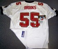 Derrick Brooks Autographed Hand Signed Bucs White Jersey - PSA/DNA