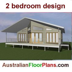 Design 44 2 Bed Small House Plan Granny Flat Construction Plans For