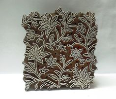 Indian wooden hand carved textile printing fabric stamp Etsy Chhaviscollections India