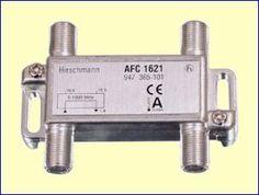 Met het AFC1621 tweevoudig aftakelement kunt u een bestaande coaxkabel onderbreken en twee aftakkingen maken naar twee nieuwe antenne aansluitdozen, bijvoorbeeld in twee slaapkamers. De verzwakking van de doorgaande kabel is minimaal, slechts 1,3 dB. De verzwakking naar de aftakpunten bedraagt 16,5 dB.  http://www.vego.nl/hirschmann/afc1621/afc1621.htm