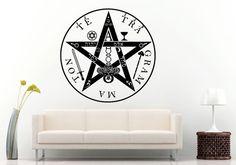 Tetragrammaton Pentagram Logo Sign Emblem Wall Decal Vinyl Sticker Mural Room Decor L584
