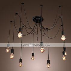 Chandelier Vintage Design Bulbs Included Living 10 Lights - USD $ 86.66 | LightInTheBox