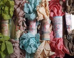 Want this for my scrapbooks...Beautiful Vintage Hand Crinkled Seam Binding Ribbon  by moldsrus, $2.49