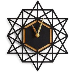 I love geometrics.  Clean lines, modern, cool feel... this clock is forfeous!  Brika Geometric Wall Clock