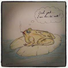 #glam #frog #pencil #sketch #doodle #illustration