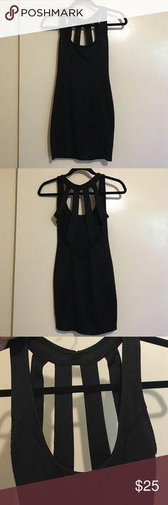 Little black dress Short black cocktail dress. Strappy-low back, hugs the curves! Worn twice. Size small. Dresses Mini