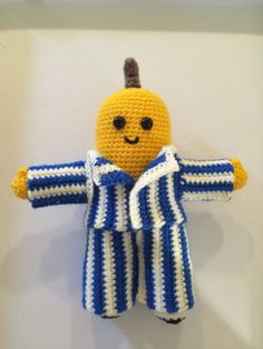PATTERN: Bananas in Pyjamas/ Amigurumi/ Crochet tutorial with photos